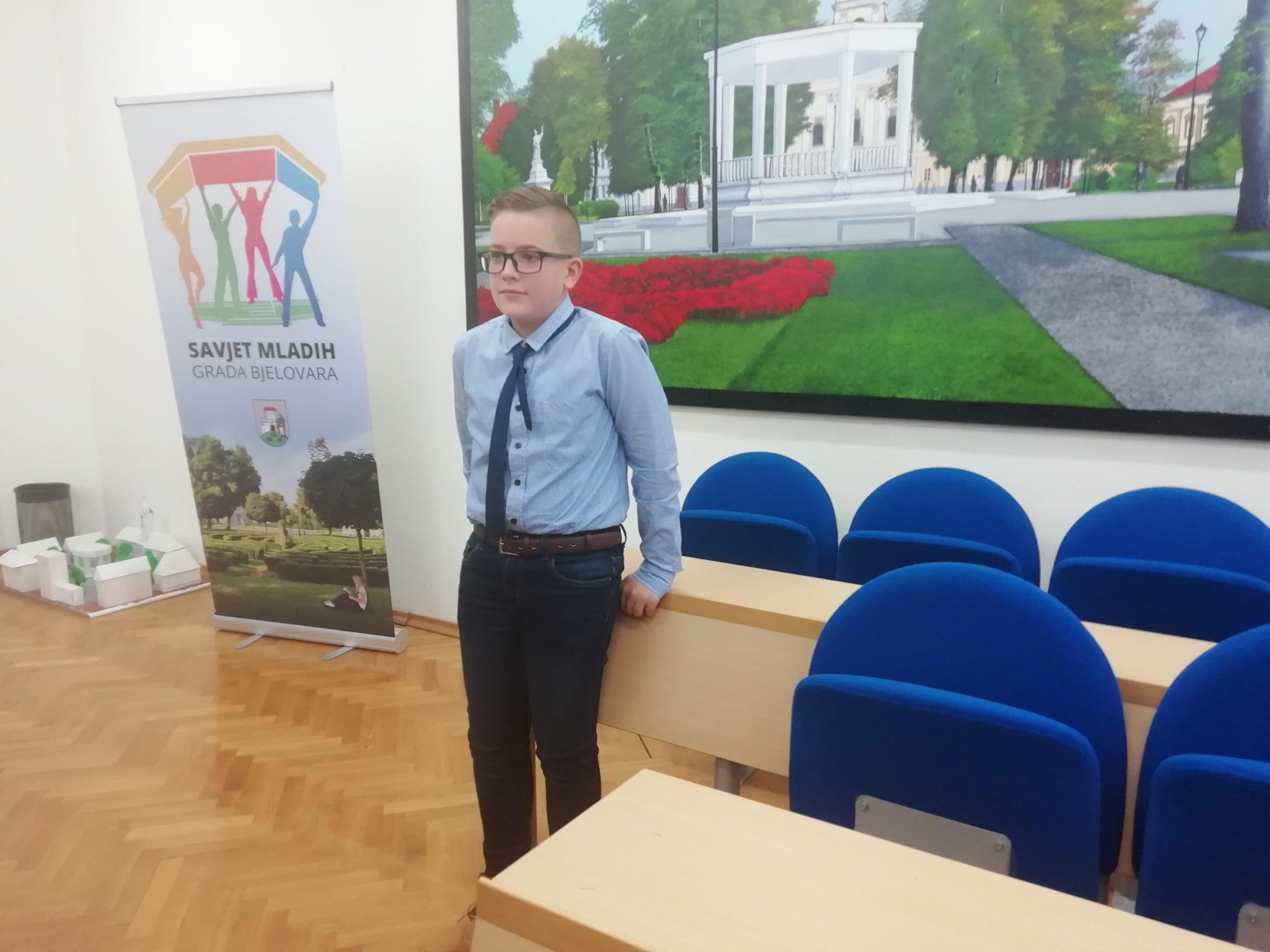 Dječji gradonačelnik Bjelovara Ivan Rukavina: Borit ću se protiv fizičkog i psihičkog zlostavljanja djece!