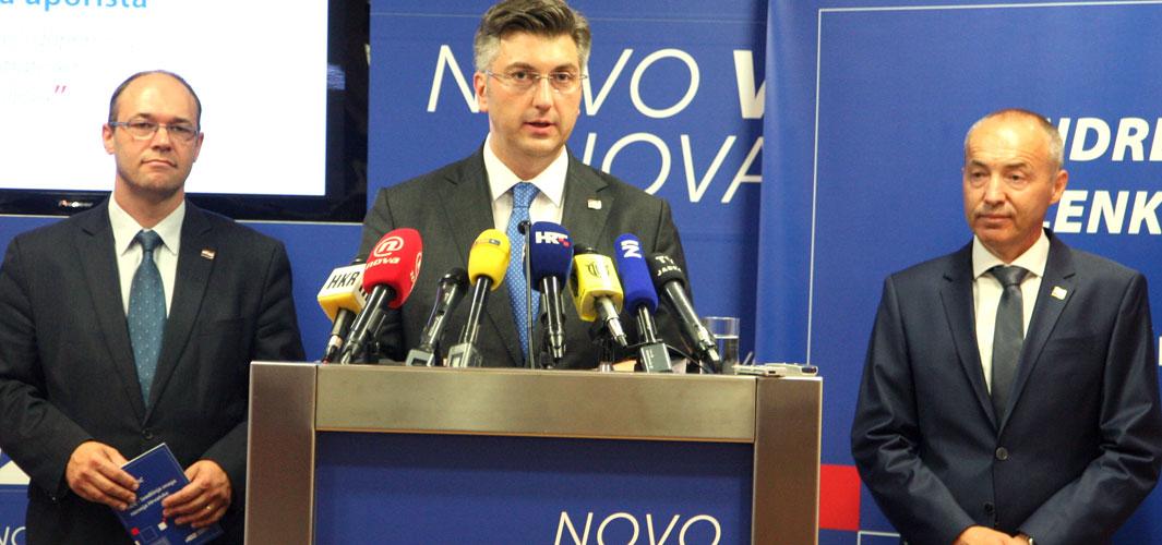 Premijer Plenković u obilasku dvije županije