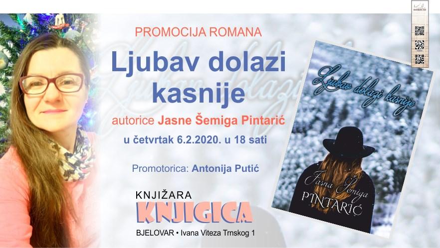 "KNJIŽEVNA VEČER U ""Knjigici"" danas gostuje Jasne Šemiga Pintarić"