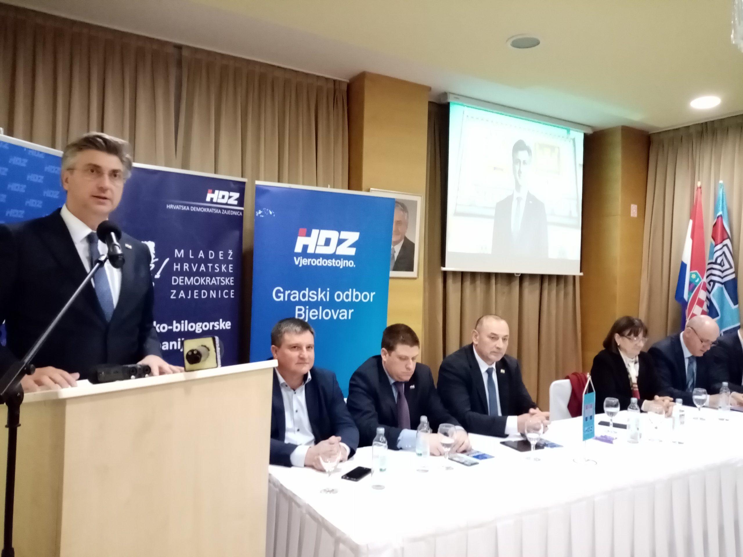 ODVAŽNO ZA HRVATSKU Plenković u BBŽ predstavio plan za novi mandat na čelu HDZ-a