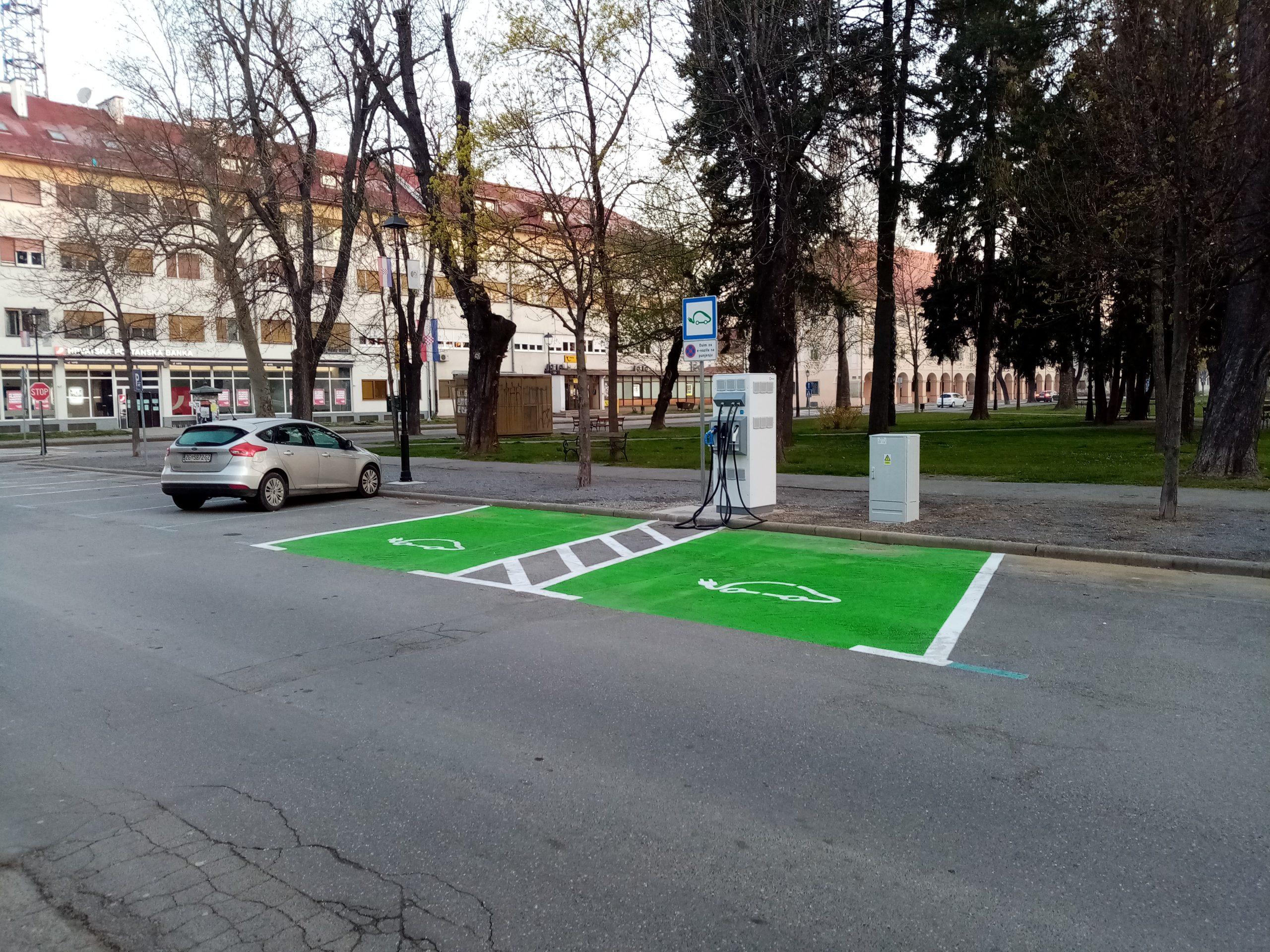 U SAMOM CENTRU Bjelovar dobio novu punionicu za električne automobile