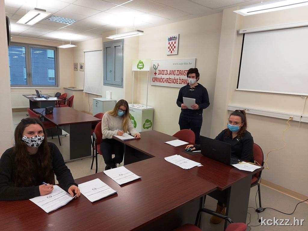 NESEBIČNA GESTA Studenti Sveučilišta Sjever pomažu epidemiolozima