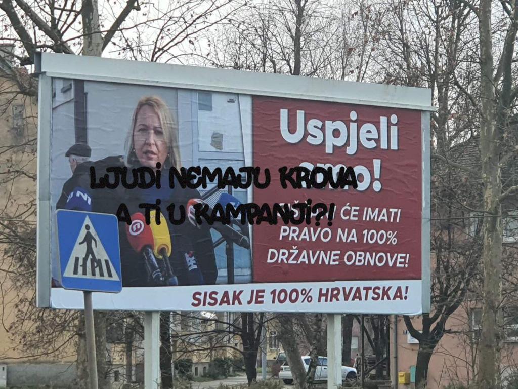 SAMA POTVRDILA Plakate s likom Ikić Baniček platio je Grad Sisak