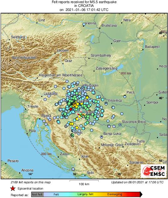 IMA LI KRAJA? Novi snažan potres u središnjoj Hrvatskoj!