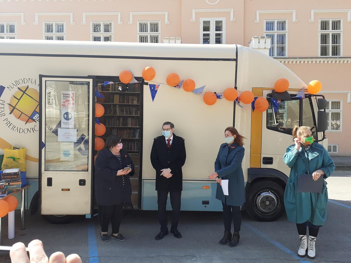 Bjelovarski bibliobus dobio australski kutak