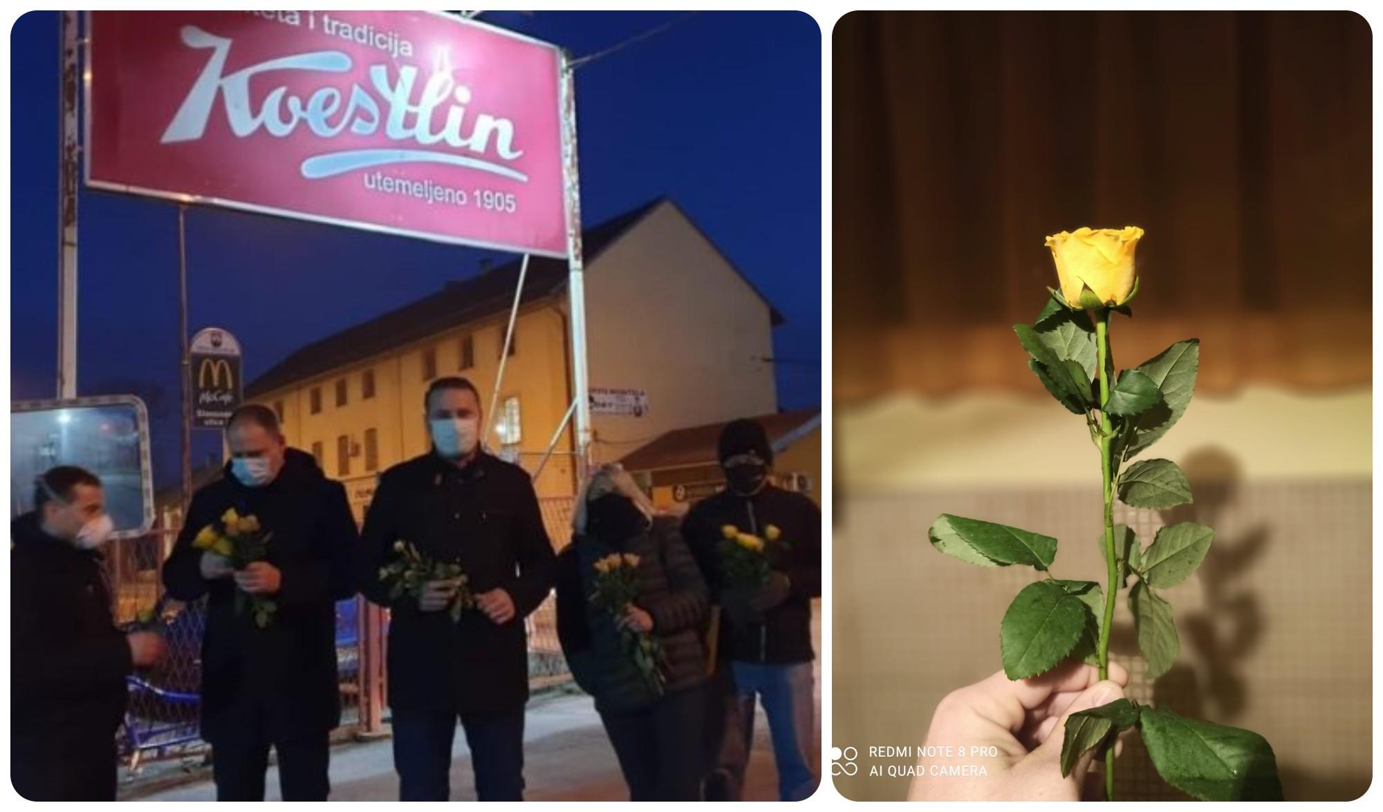 U zoru podijelili ruže zaposlenicama Koestlina