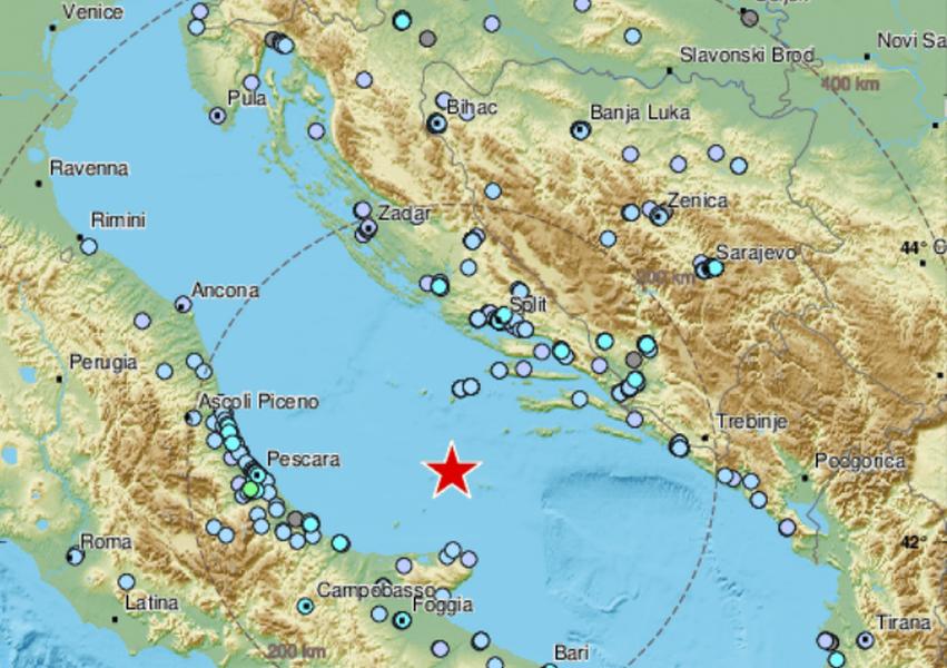 U Jadranskom moru potres jačine 5,4 po Richteru!