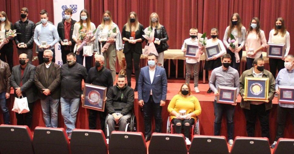 Dodijeljena priznanja najboljim bjelovarskim sportašicama i sportašima