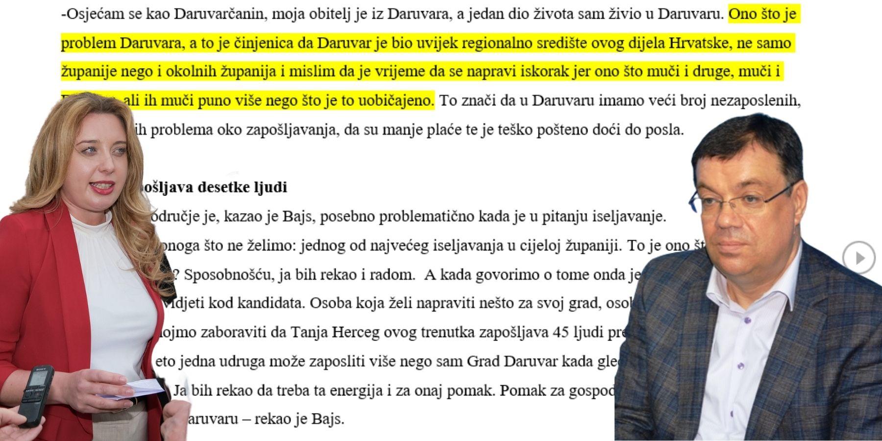 Damir Bajs promovira Daruvar kao novo središte Bjelovarsko-bilogorske županije