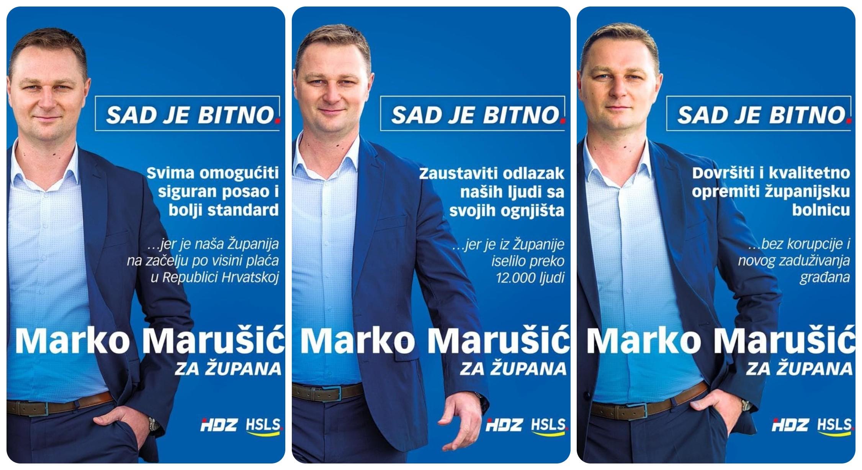 Marušićeve glavne poruke na plakatima, gdje su izborni programi ostalih kandidata?