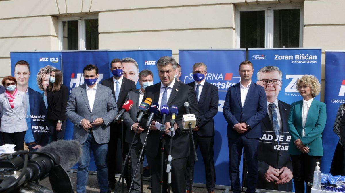 Plenkovićeva snažna potpora Marušiću za župana i drugim kandidatima HDZ-a u BBŽ