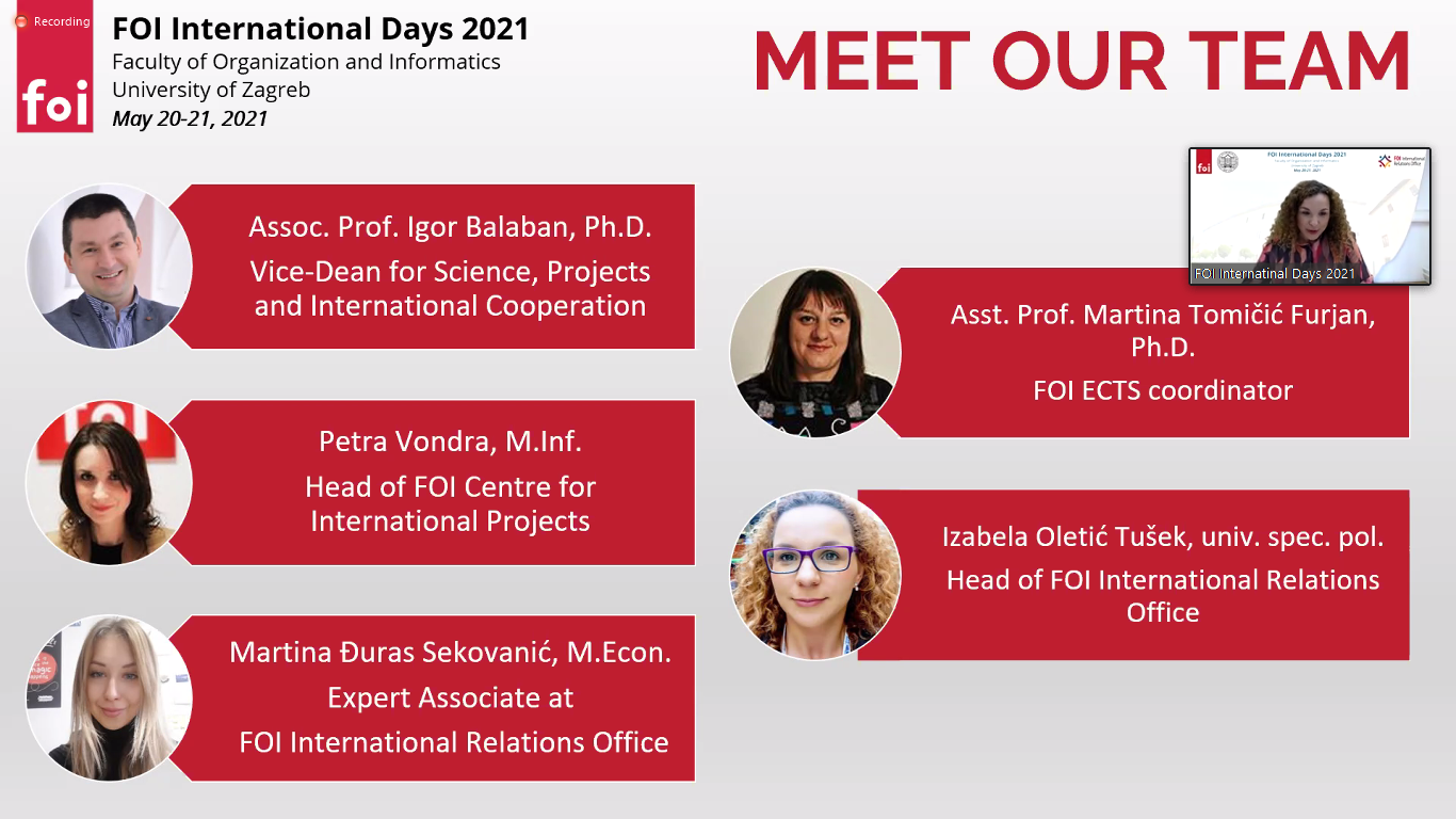 Dani međunarodne suradnje na FOI-ju