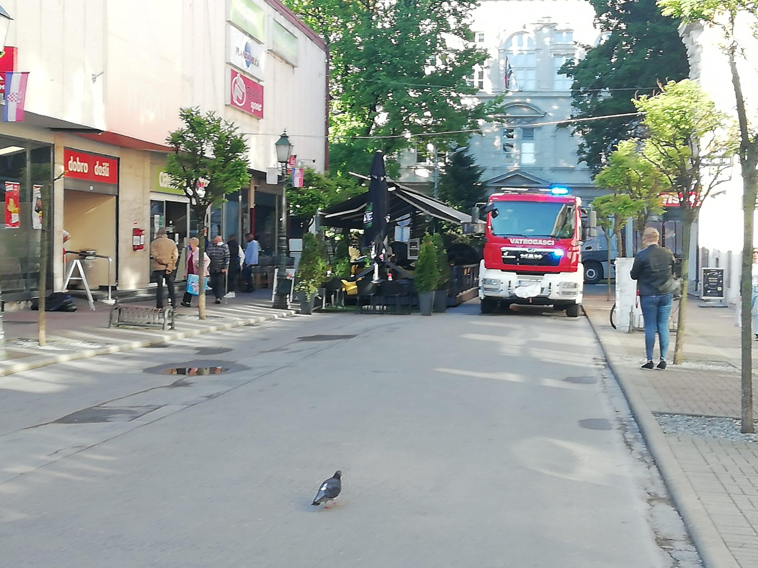 U skladištu trgovačkog centra izbio požar manjeg obima