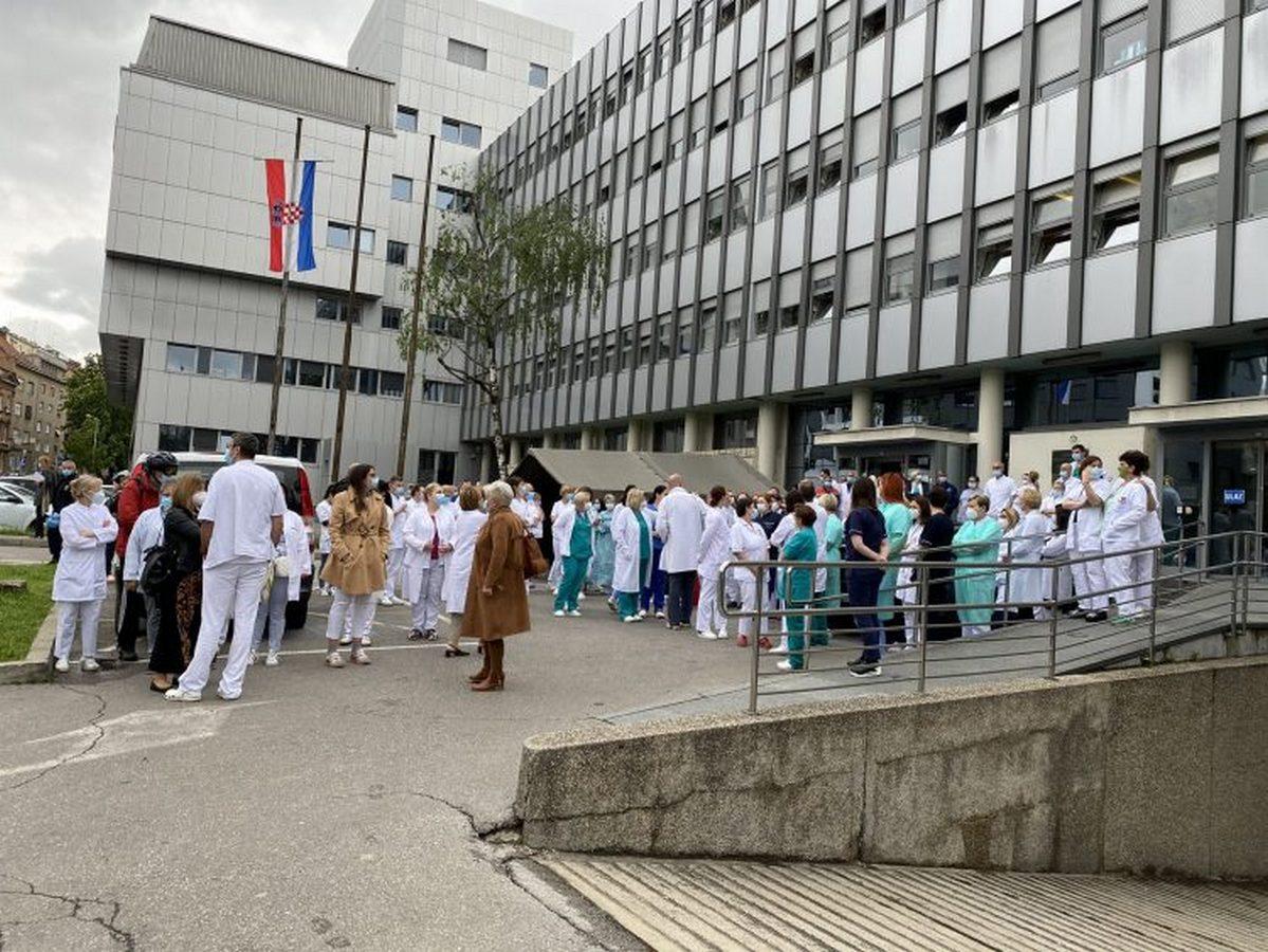 Prosvjed djelatnika Klinike za tumore