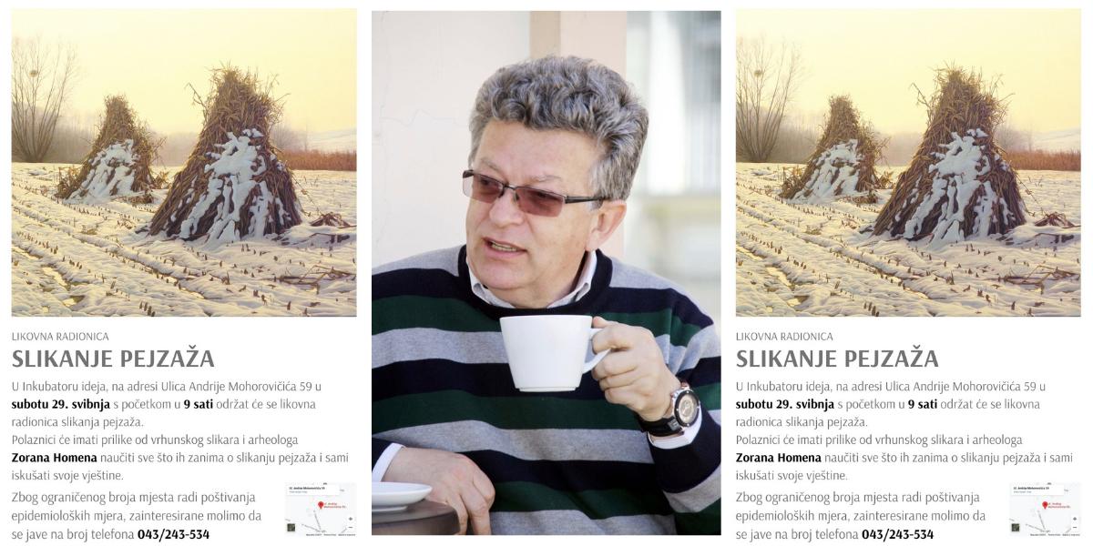 Prva likovna radionica Zorana Homena u Inkubatoru ideja