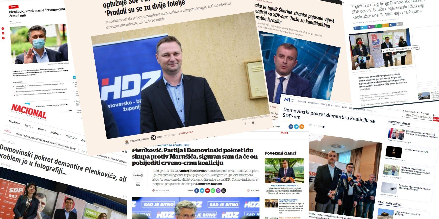 Nacionalni mediji o izborima u Bjelovarsko-bilogorskoj županiji