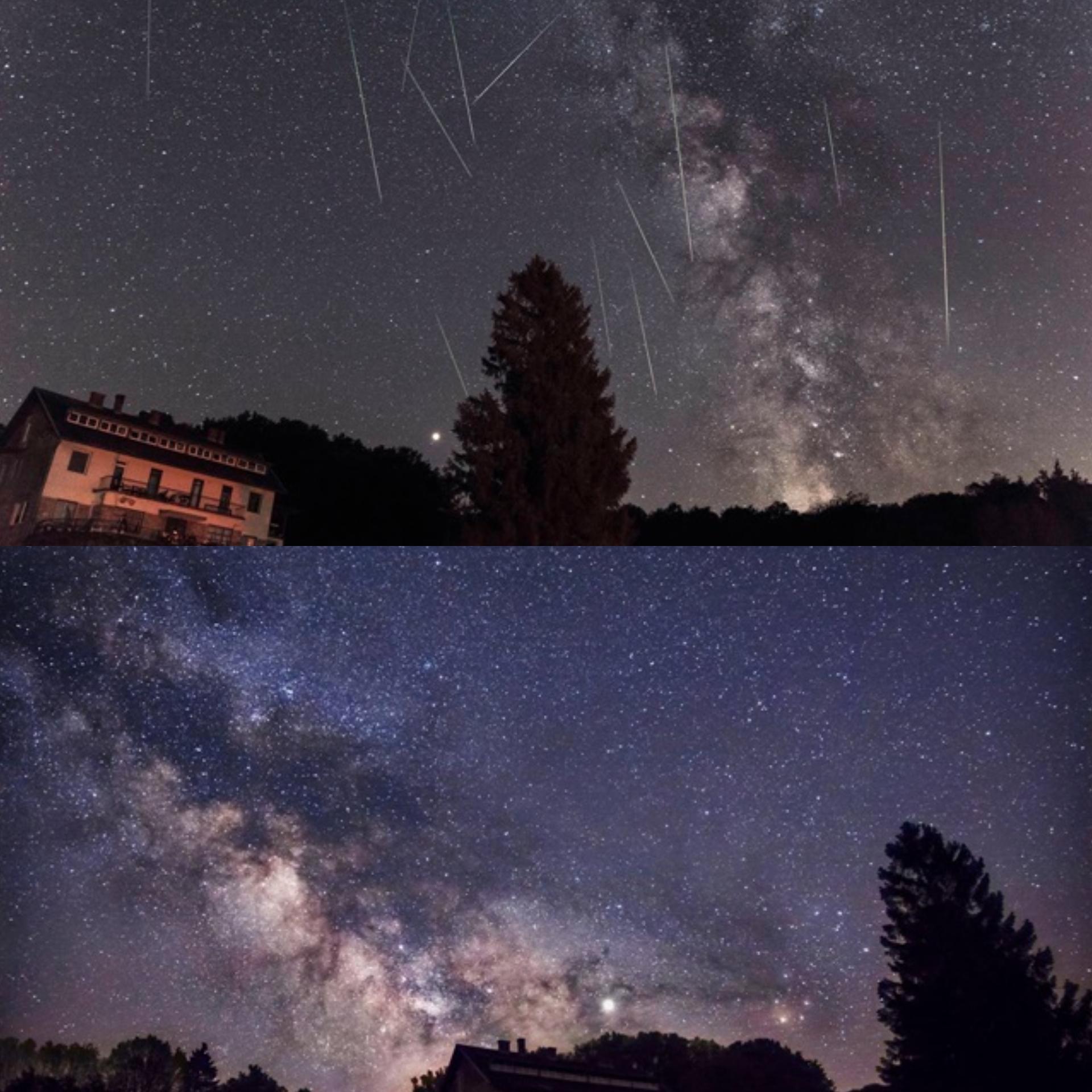Zvjezdano nebo bez svjetlosnog onečišćenja u blizini Daruvara