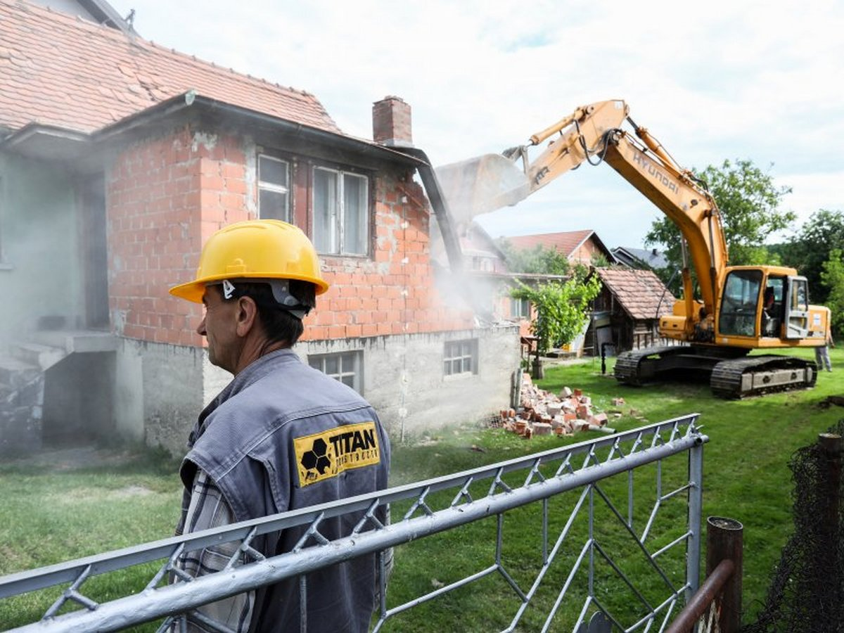 Počelo je rušenje kuća u Zagrebu