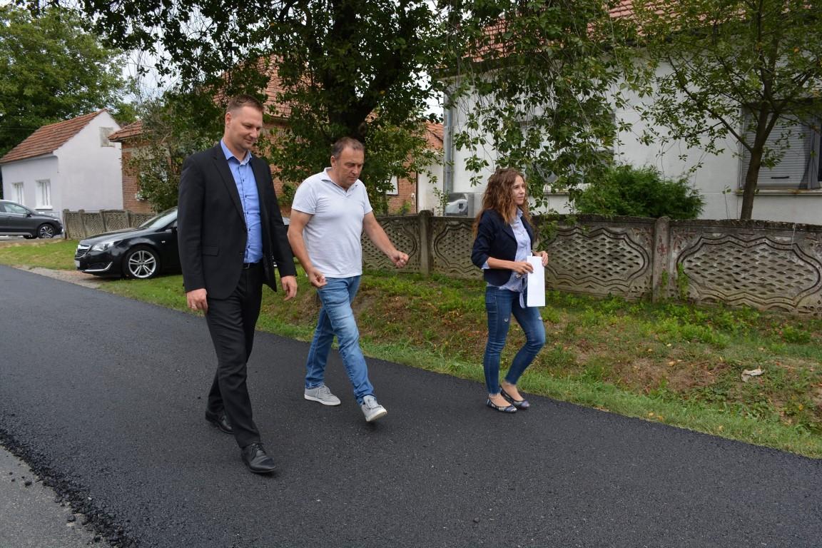 Župan Marušić obišao radove na obnovi prometnice Severin-Orovac