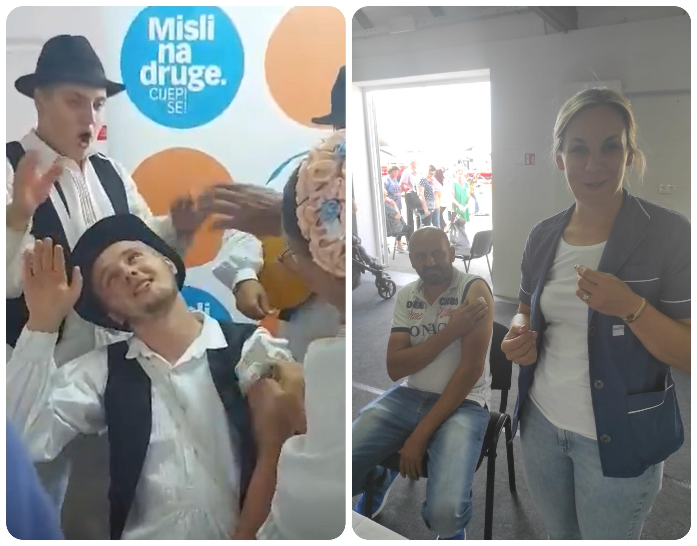 [FOTO I VIDEO] Sjajna atmosfera na cijepljenju, za hrabrost pojedincima zasvirali - tamburaši!