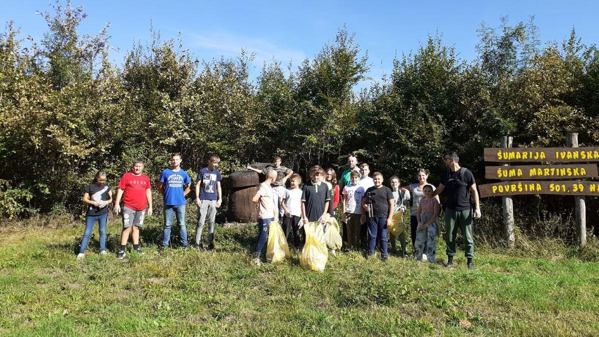 Učenici OŠ Ivanska u sklopu plogginga žele očistiti cijelu općinu!